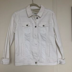 NWT Pilcro by Anthropologie white denim jacket